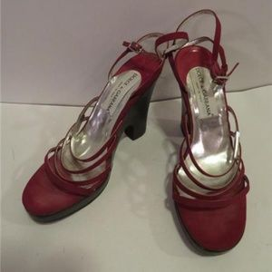 AUTHENTIC DOLCE & GABBANA RED SANDAL HEELS - 37